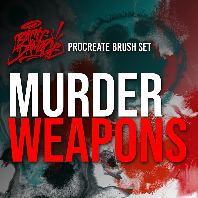 Image of Murder Weapons Brush Set For Procreate