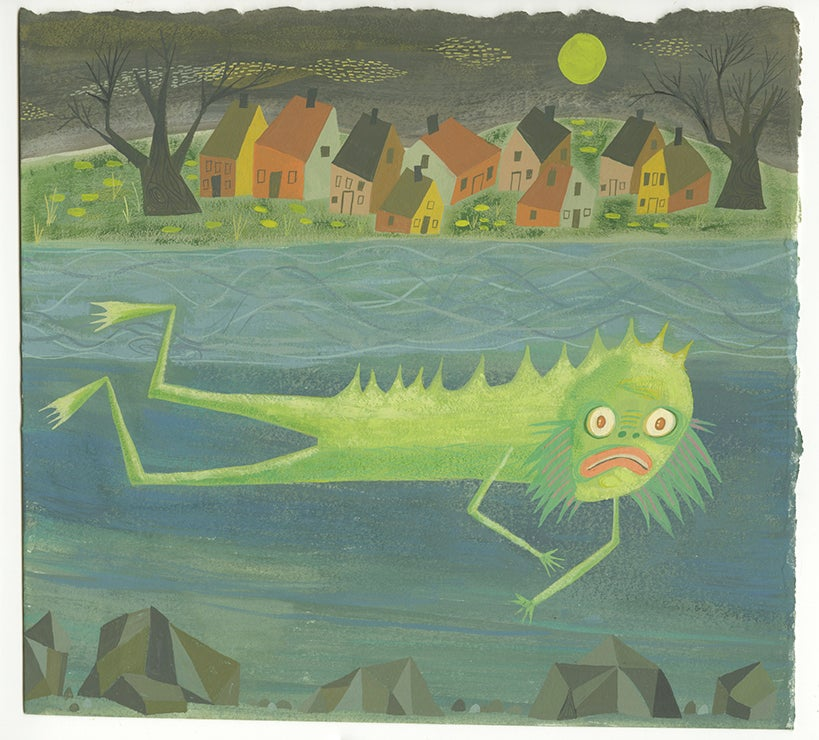 Image of The Fishman of New England. Original painting.