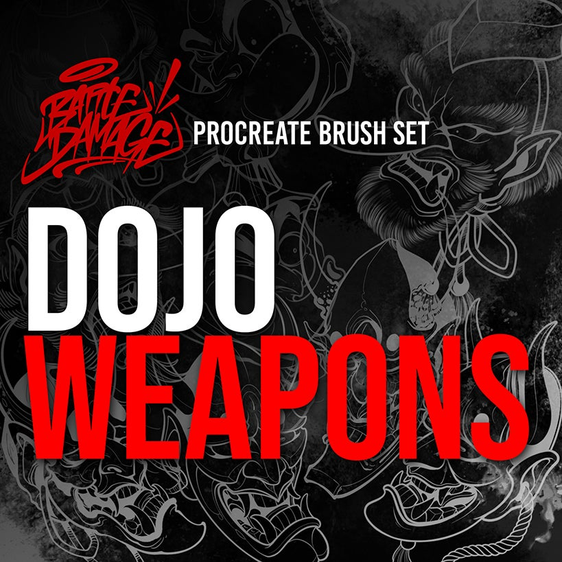 Image of Dojo Weapons Brush Set For Procreate