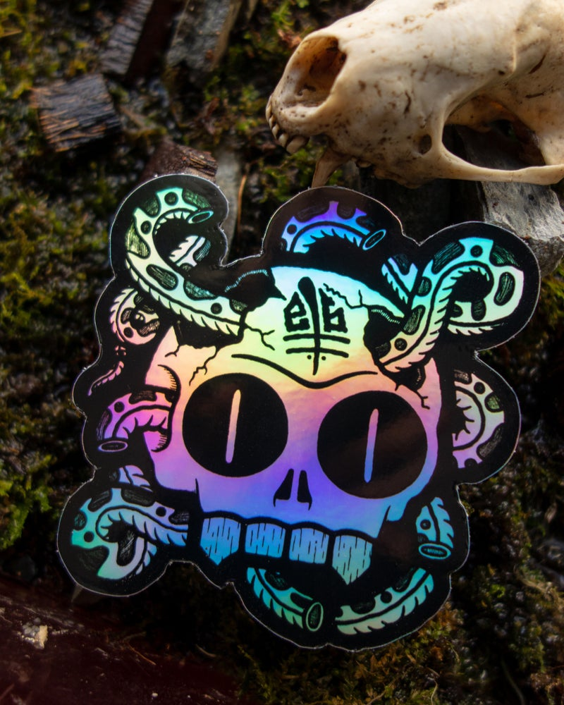 Image of Hologram Skull Stickers