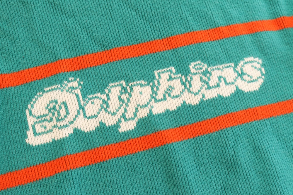 Image of Vintage 1980's Miami Dolphins Cliff Engle Sweater Sz.M
