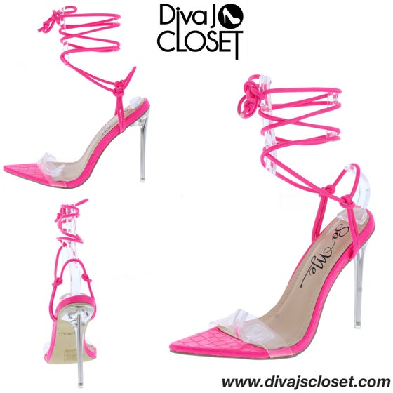 Image of Pink Open Toe Heels
