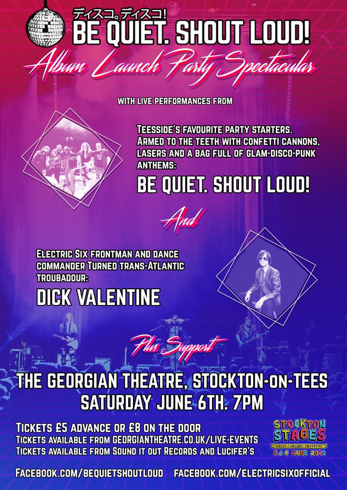 Image of Ticket: BQ. SL! album launch party w/Dick Valentine (Electric Six)