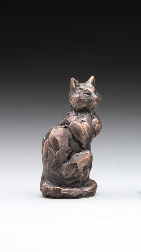 Image of Cat study bronze finish