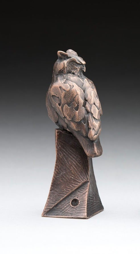 Image of Great horned owl bronze finish