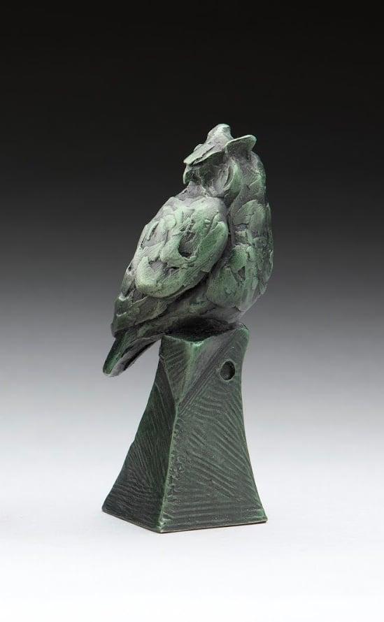 Image of Great horned owl verde finish