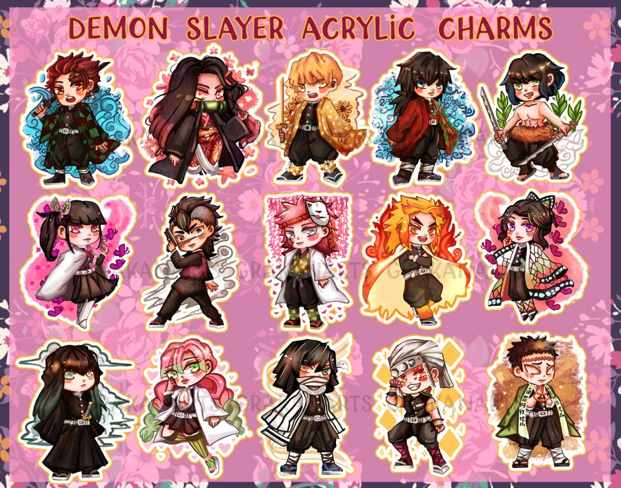 Image of Demon Slayer/Kimetsu No Yaiba Acrylic Charms