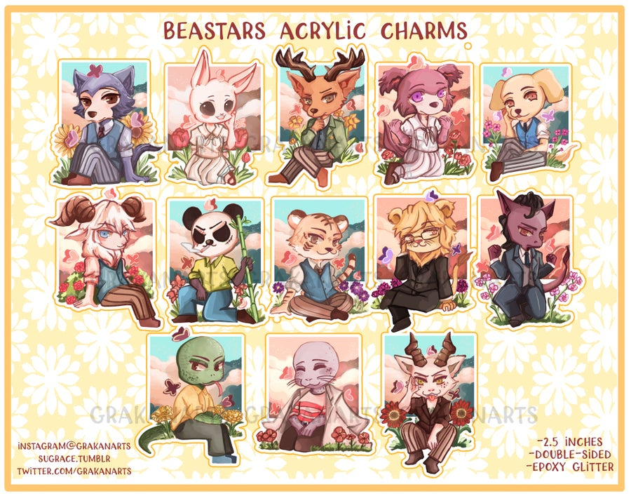 Image of Beastars Acrylic Charms