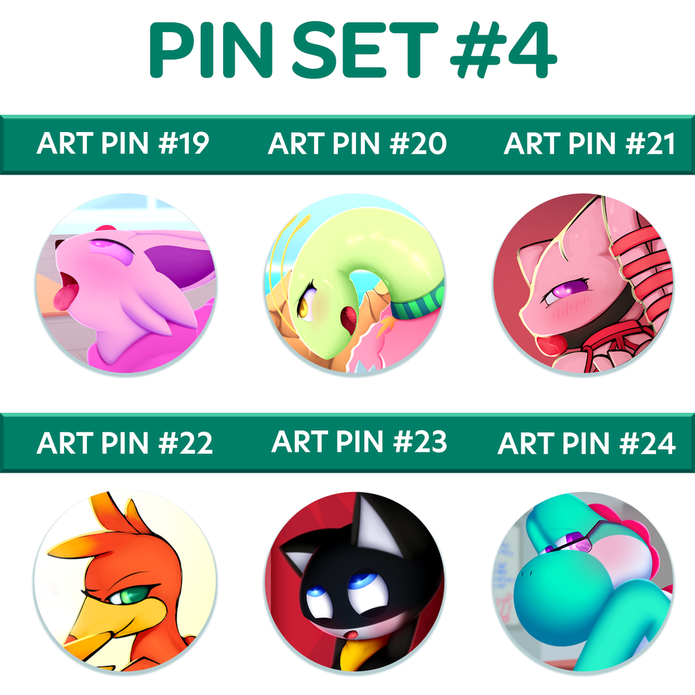 Image of Button Badge Set #4