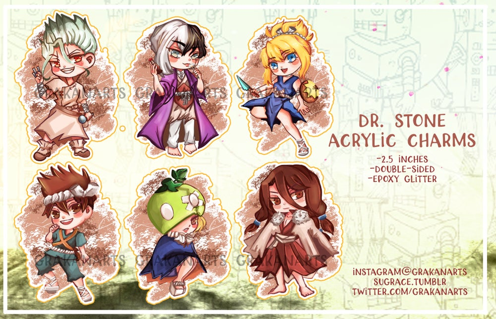 Image of Dr.Stone Acrylic Charms