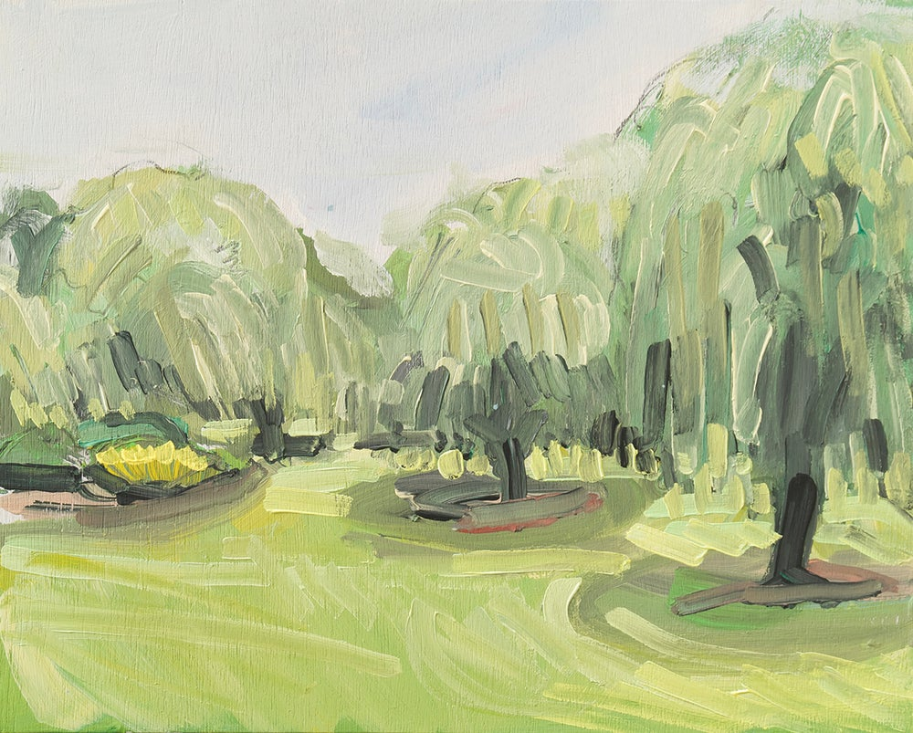 Image of Weeping Willows (Bitts Park) Framed Original