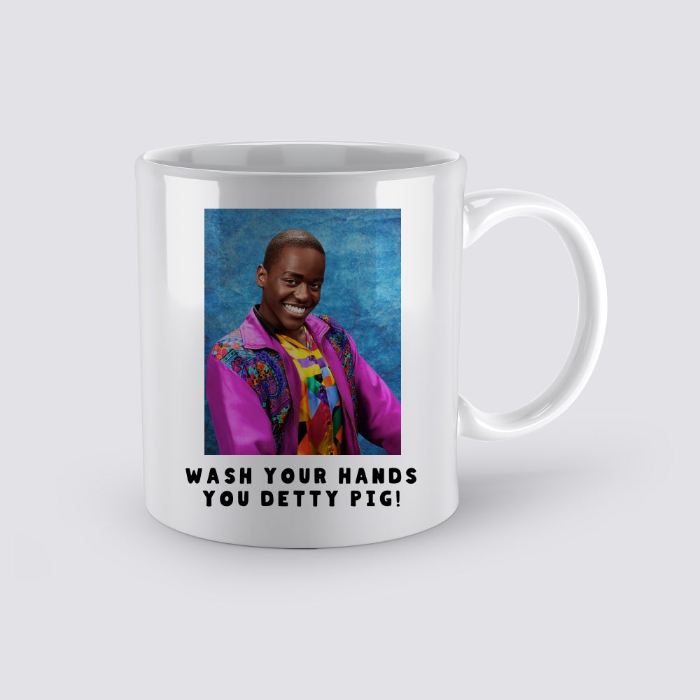 Image of Wash Your Hands You Detty Pig Coffee Mug