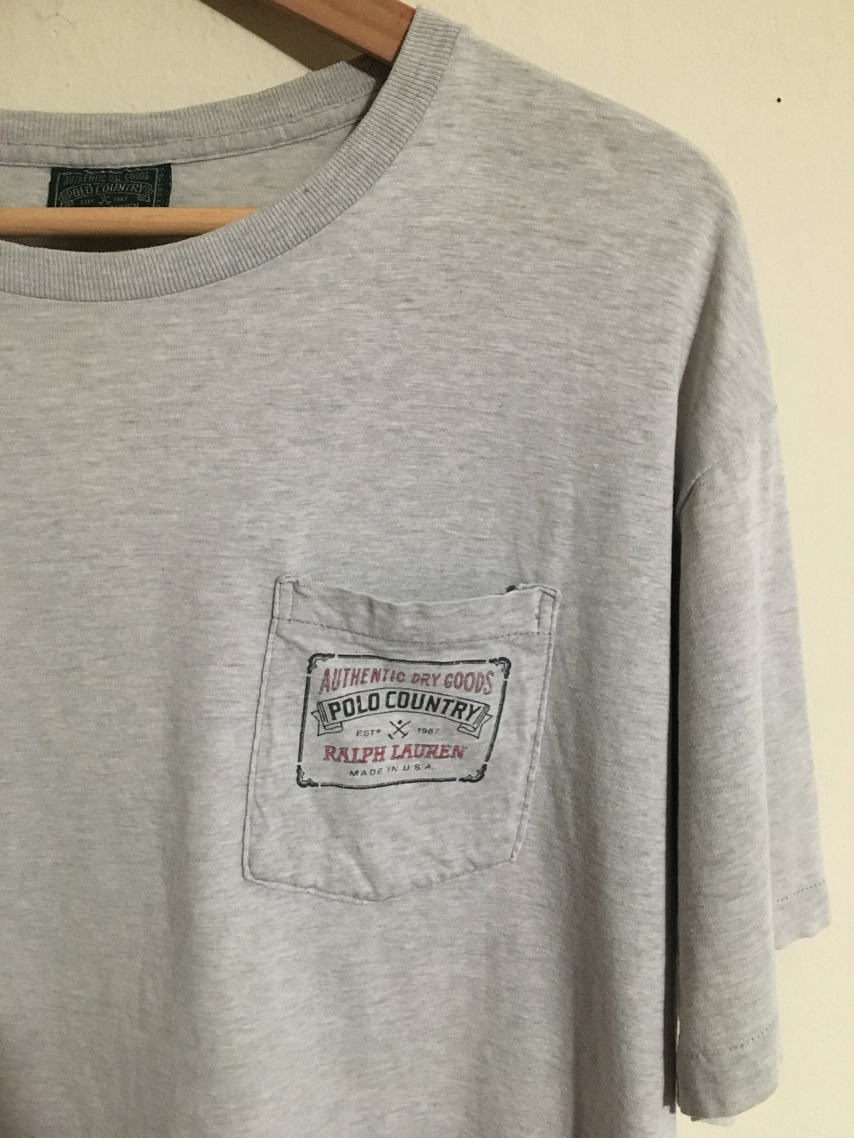 Early 90's Ralph Lauren Polo Country Authentic Dry Goods Pocket Tee