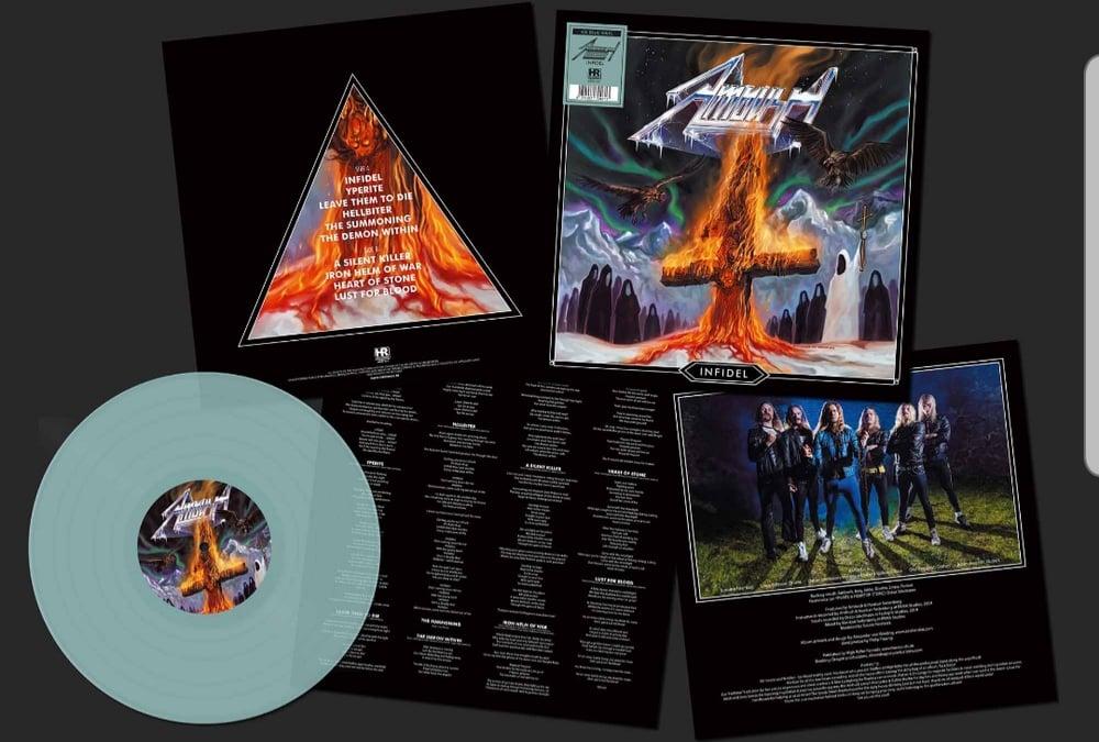 Image of Infidel - LP TRANSPARENT ICE BLUE