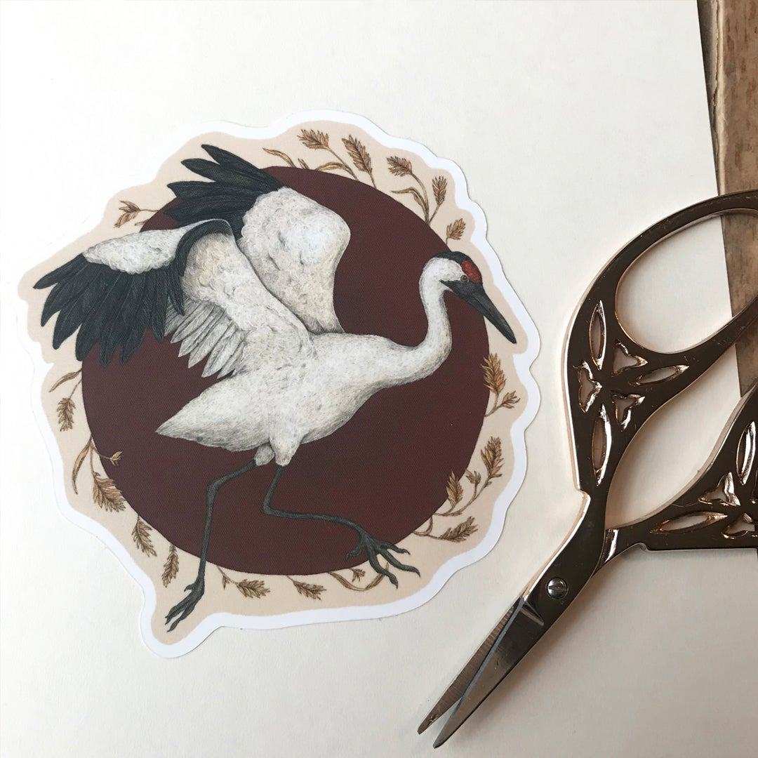Image of Whooping Crane Sticker