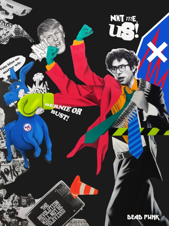 Image of Bern against the machine! 16in x 12in limited print