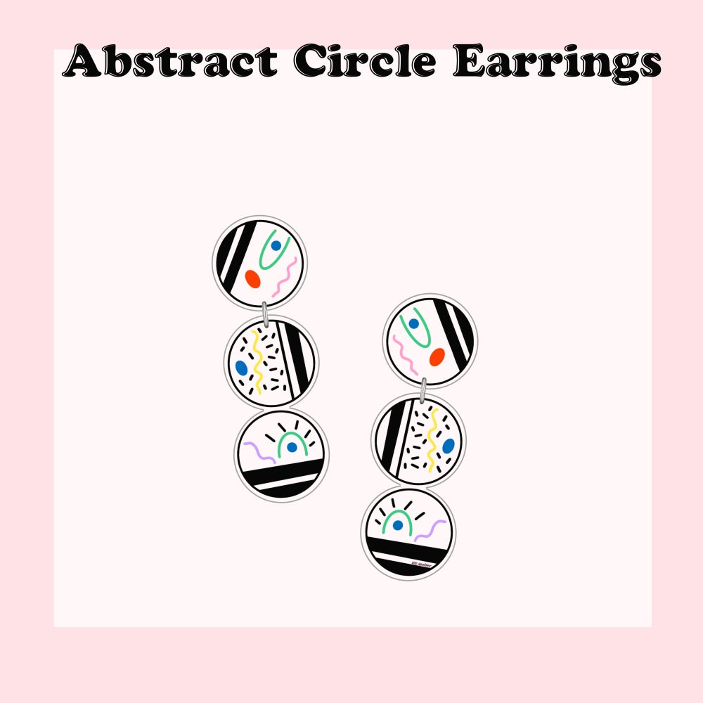 Image of Abstract Circle dangle earrings