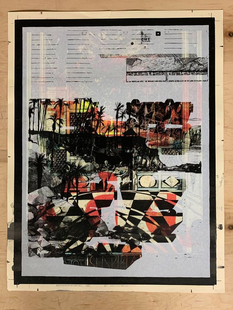 Image of Landland Test Print (and/or Uncut Press Sheet) #20-08