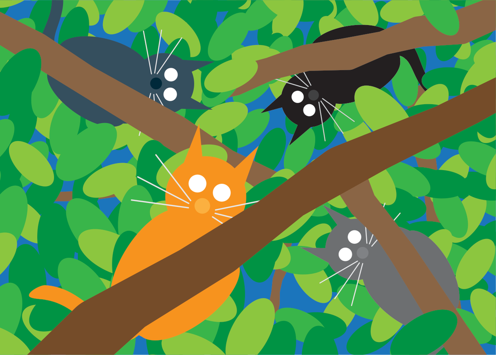 Cats In Tree Collection
