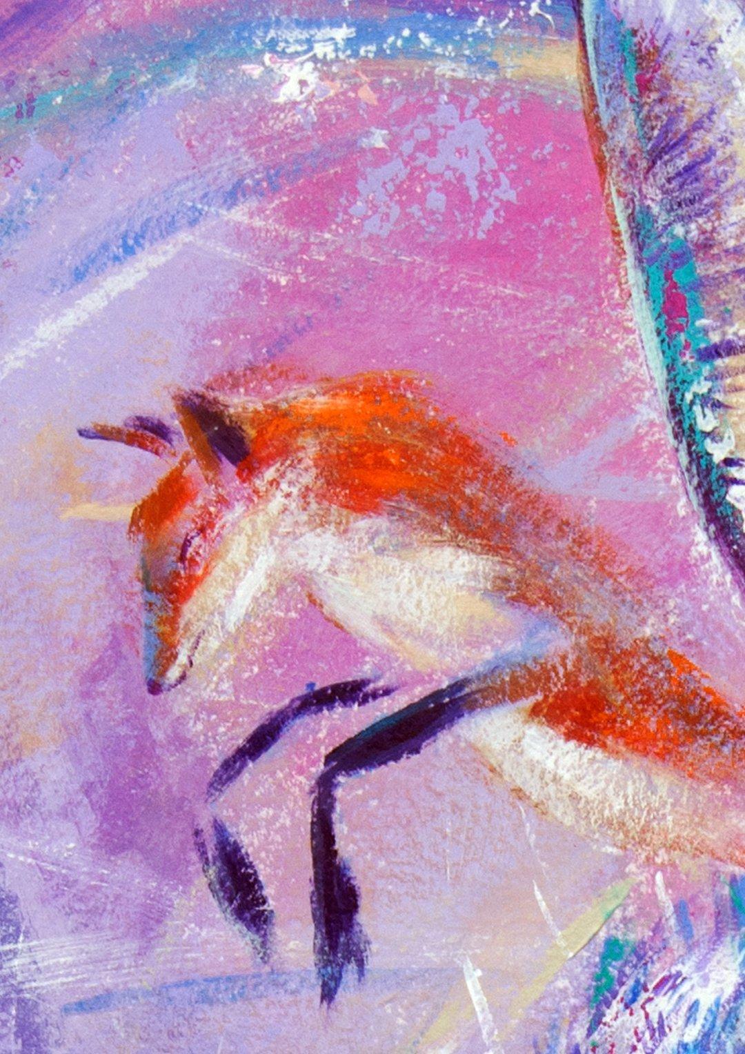 Hare and Fox Giclée art print