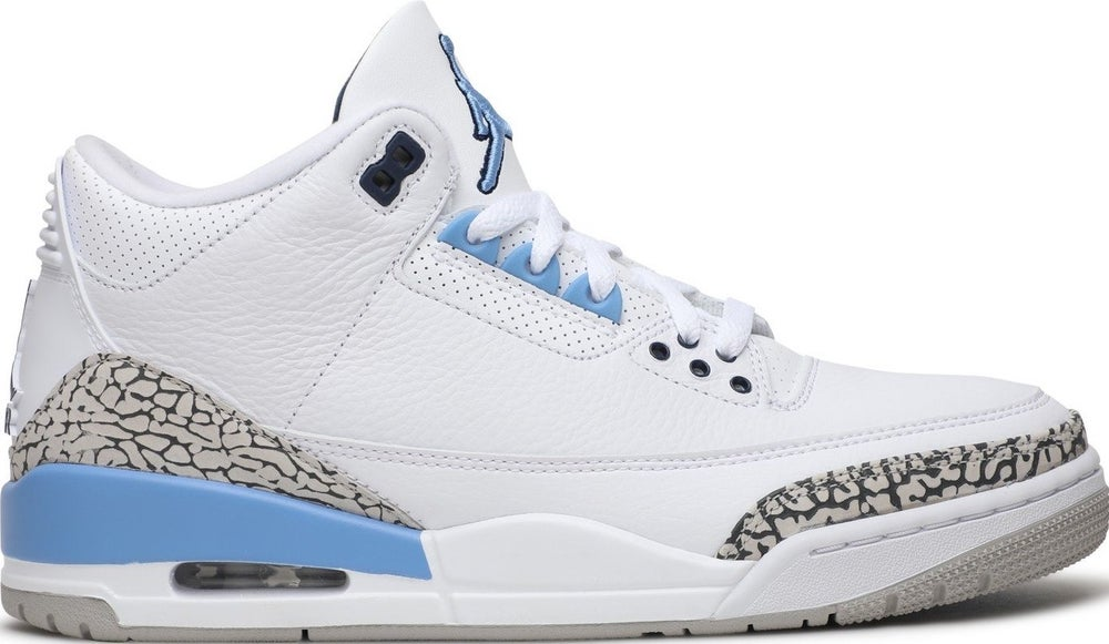 "Image of Nike Retro Air Jordan 3 ""UNC"" SZ 9"