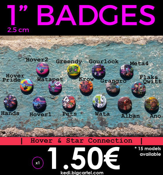 Image of 25mm Pin Badges