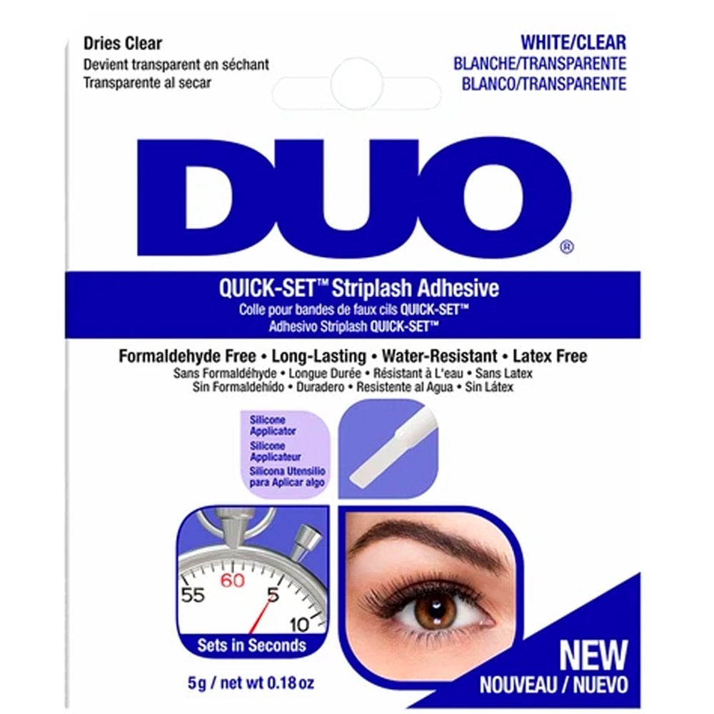 Image of Duo Eyelash Glue Striplash Adhesive White/Clear 7g BRUSH ON