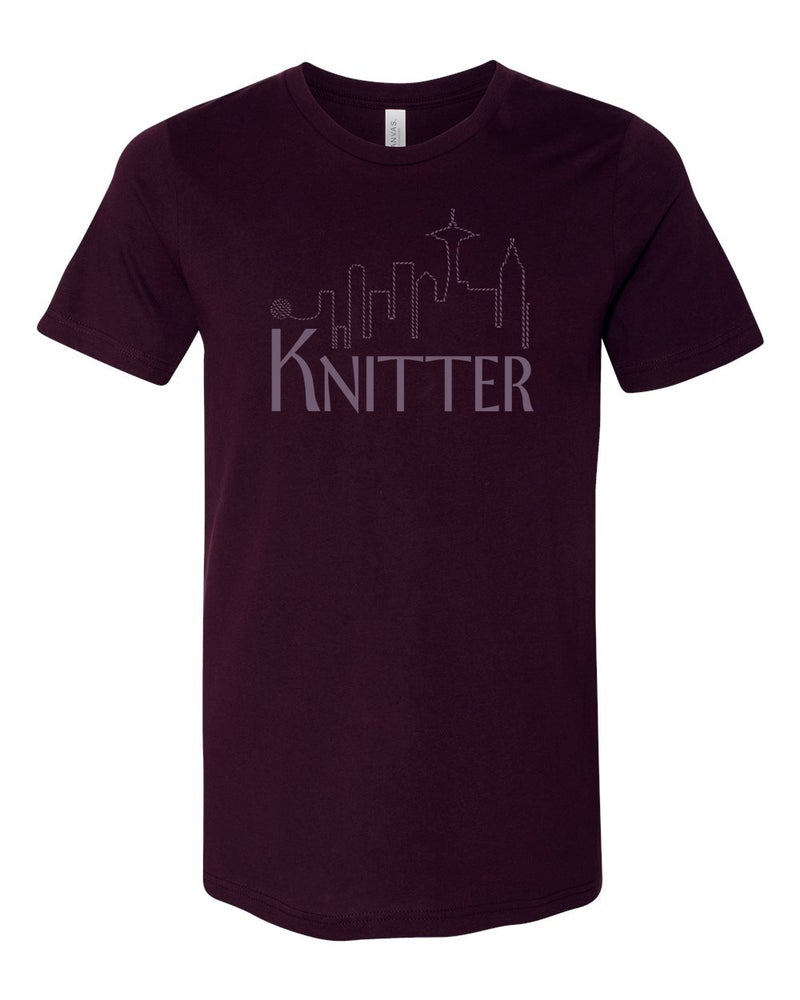 Image of Oxblood Unisex Knitter Tee