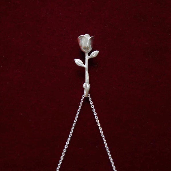 Image of ROSA silver necklace