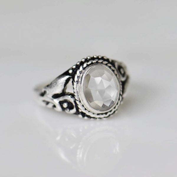 Image of Clear Quartz vintage style ring