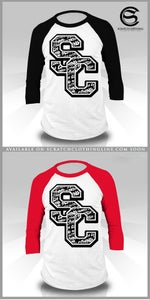 Image of 3/4 Sleeve Varsity Baseball Tees