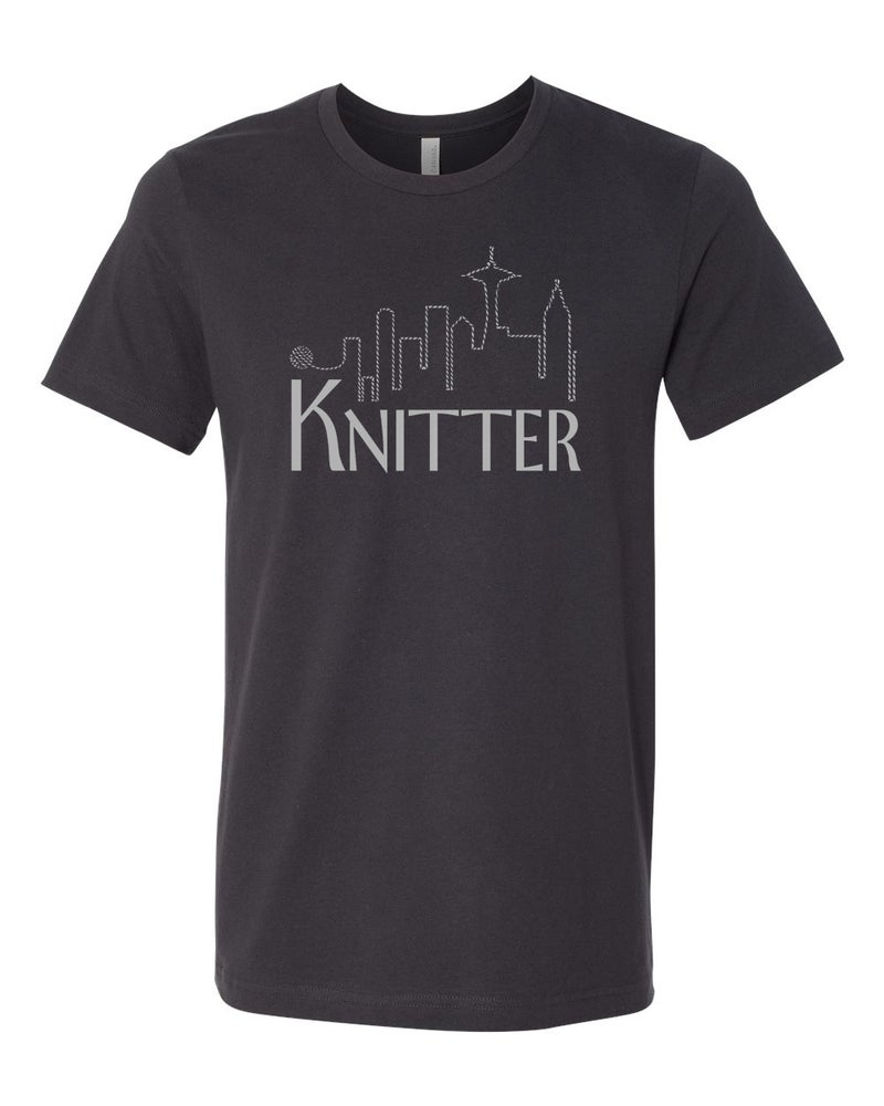 Image of Dark Grey Unisex Knitter Tee