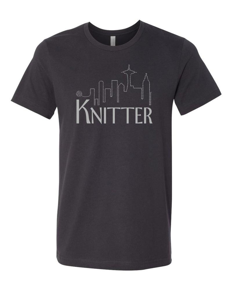 Image of Dark Grey Unisex Knitter Tee
