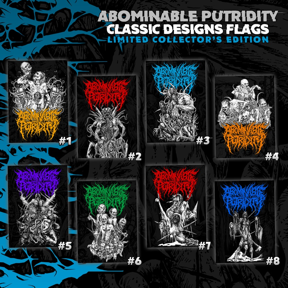 Image of Abominable Putridity Classic Designs Flags