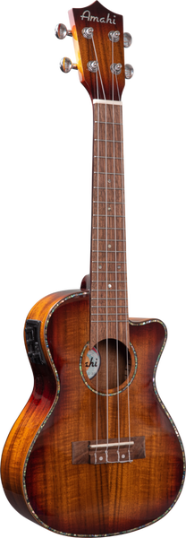 Image of Amahi Koa Concert w/Pickup & Cutaway, Model UK-KOK-CEQ
