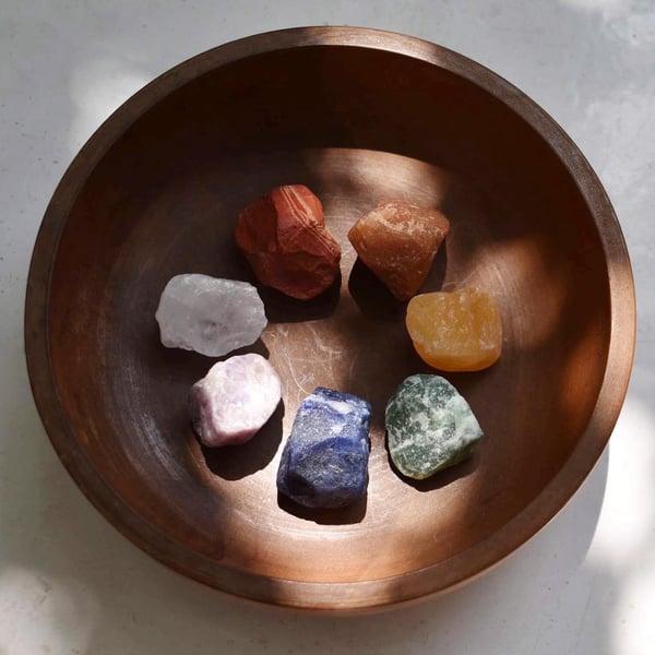 Image of 7 Chakra Rough Stones set