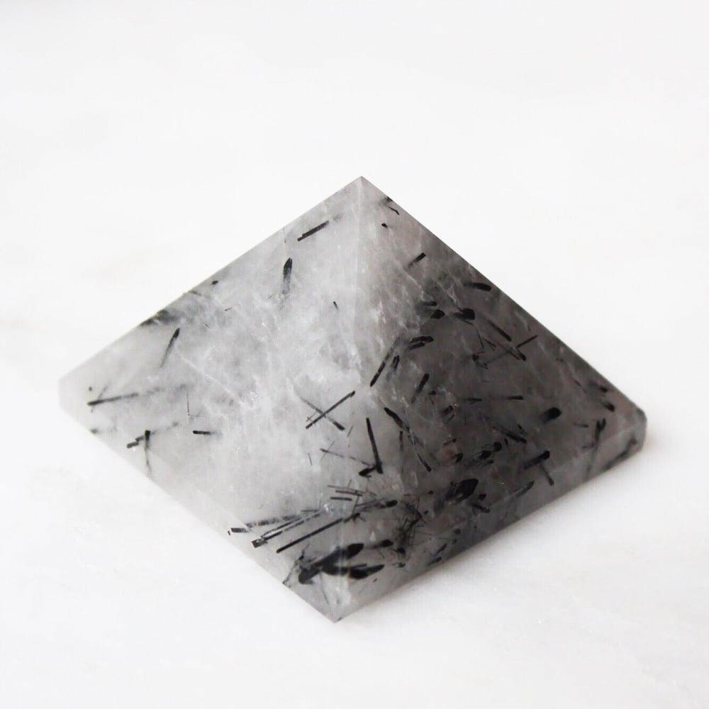 Image of Black Rutilated Quartz pyramid