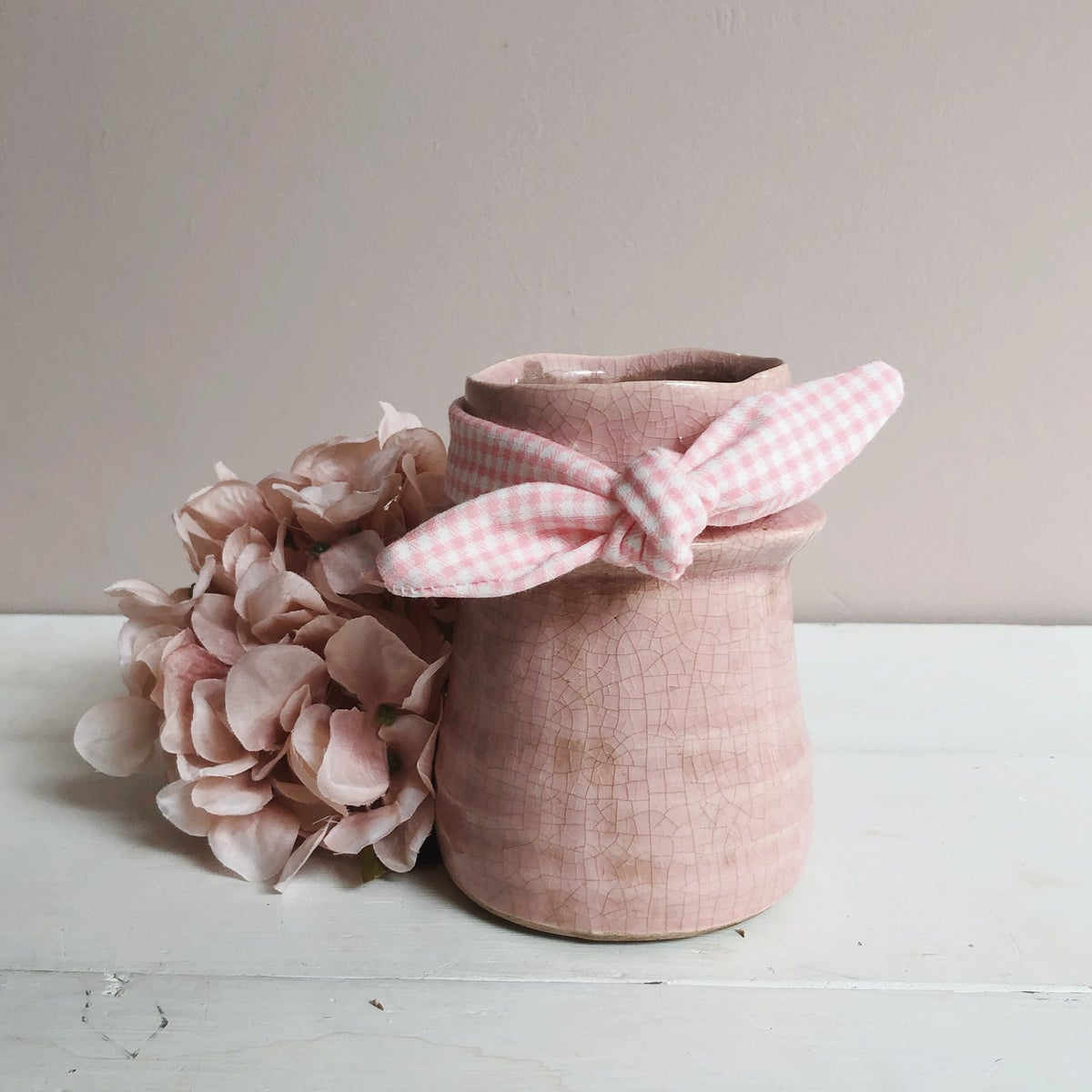 Image of Pink check bow