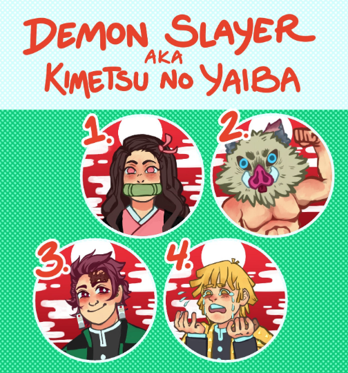 Demon Slayer Buttons!
