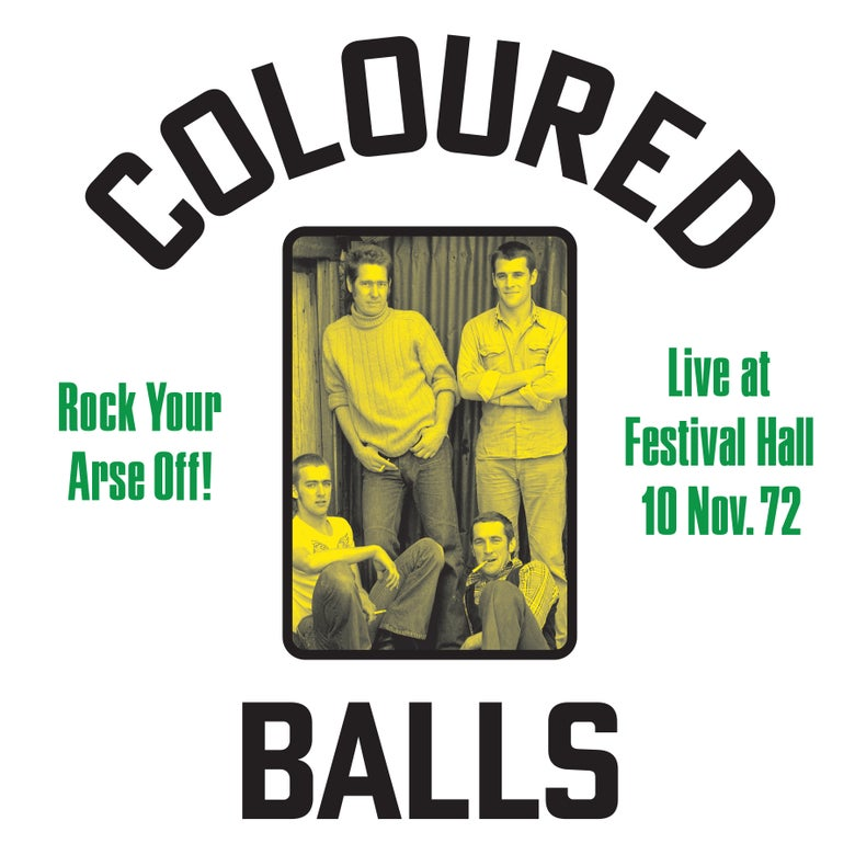"Image of COLOURED BALLS ""Rock Your Arse Off! Live At Festival Hall 1972"" LP JAW045"