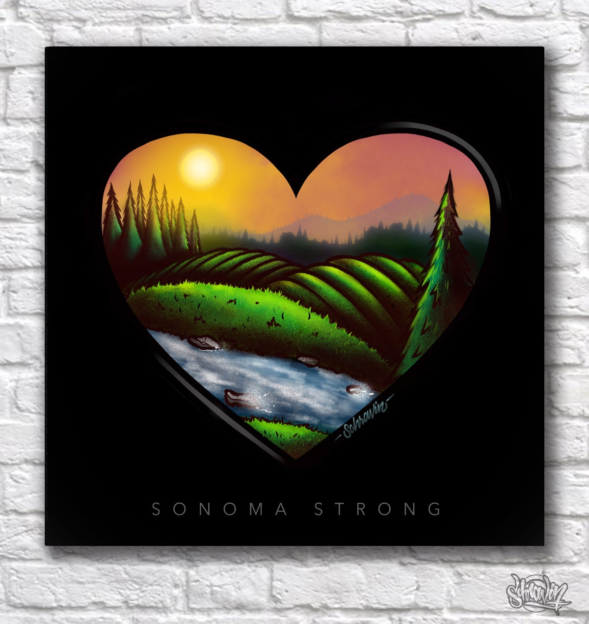 Image of Sonoma Strong canvas print