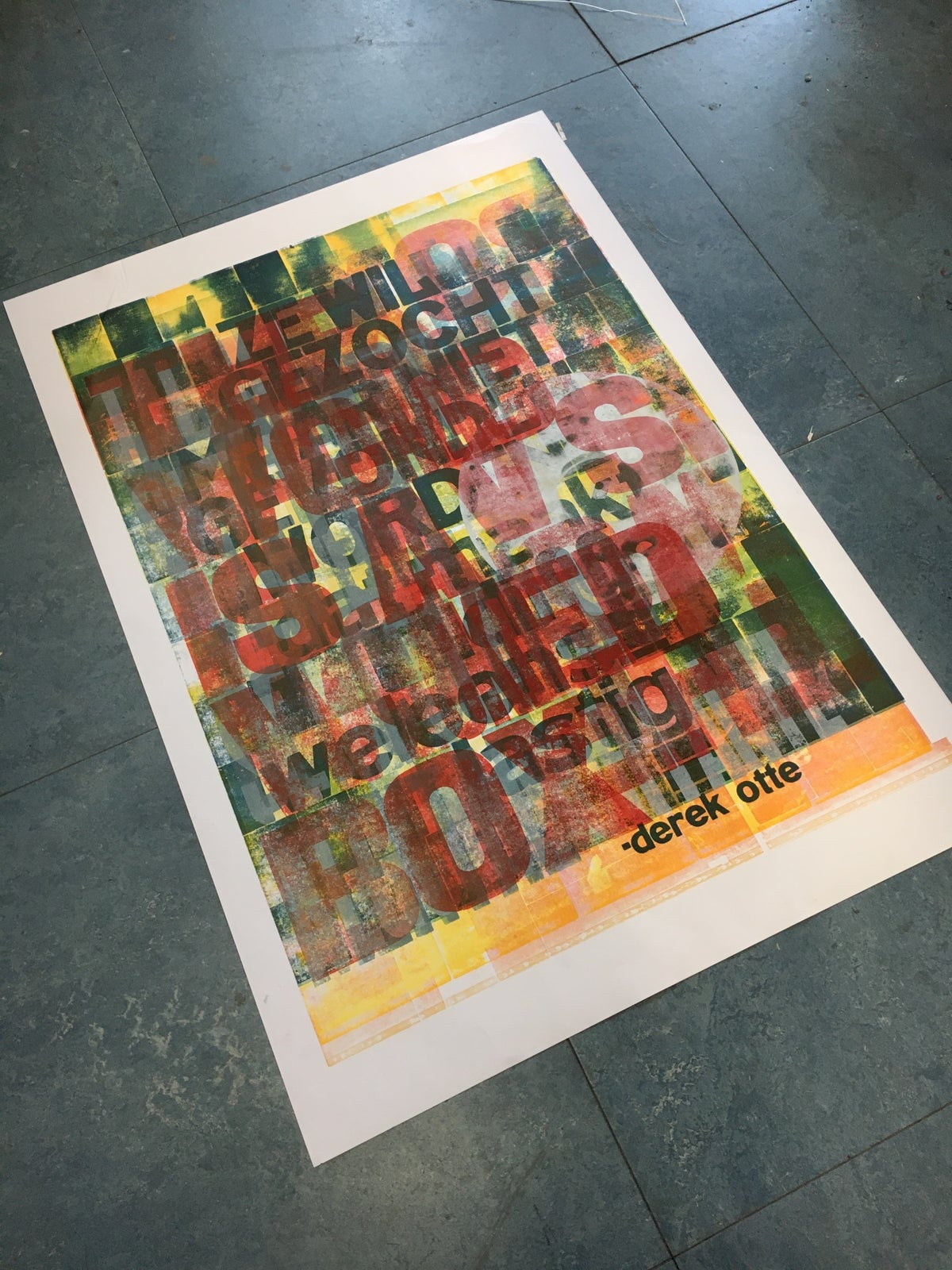 Image of One-off Typo Poster #1-053