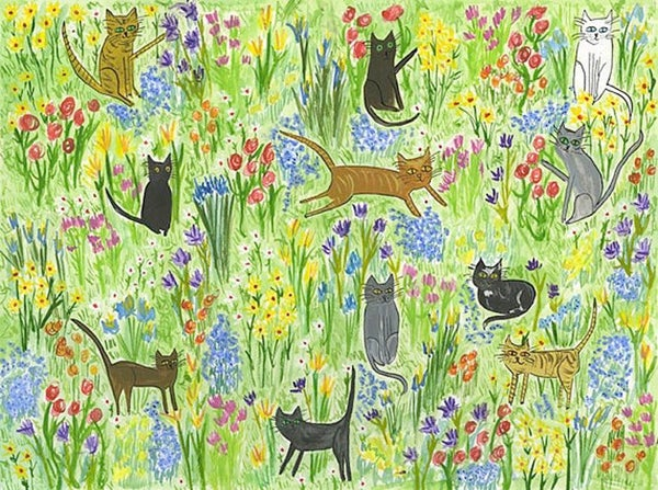 Image of Meadow cats. Limited edition print.