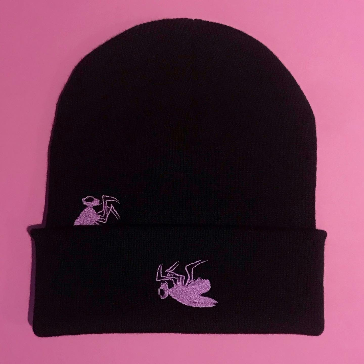 Image of PURPLE ORCHID FLY BEANIE