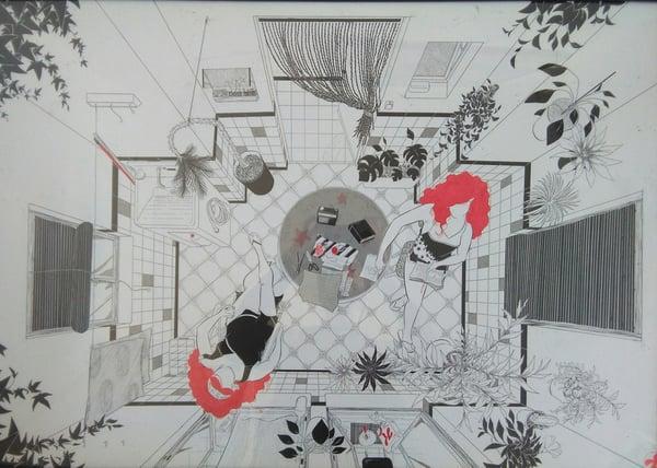 """Image of """"Las tardes de verano en el pueblo"""" (ilustración original)"""