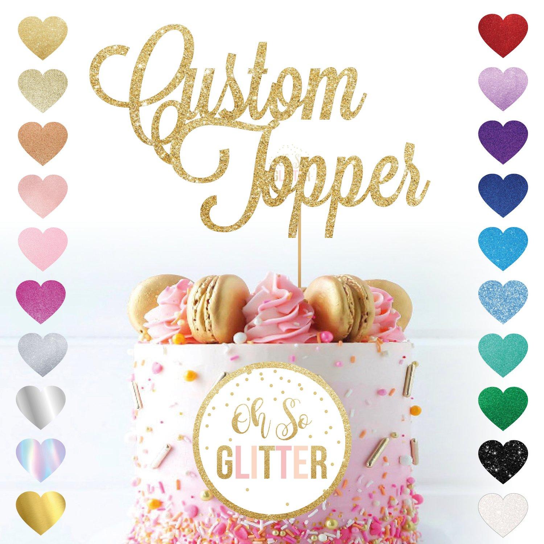 Image of Custom Glitter Cake Topper - Any Word/s