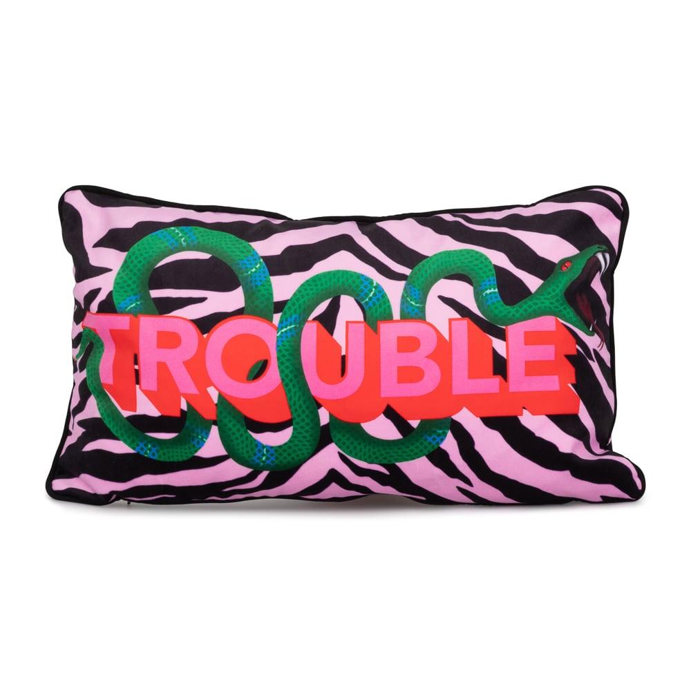 Image of TROUBLE cushion