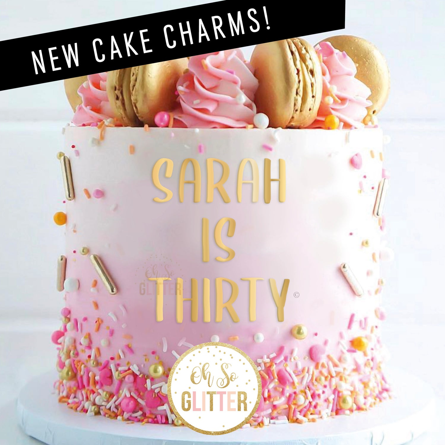 Image of NEW - Cake Charms - Gold or Silver