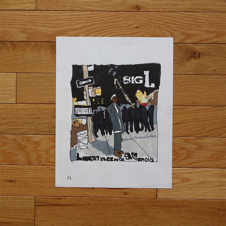 "Image of Yung Lenox ""Big L"" Print"