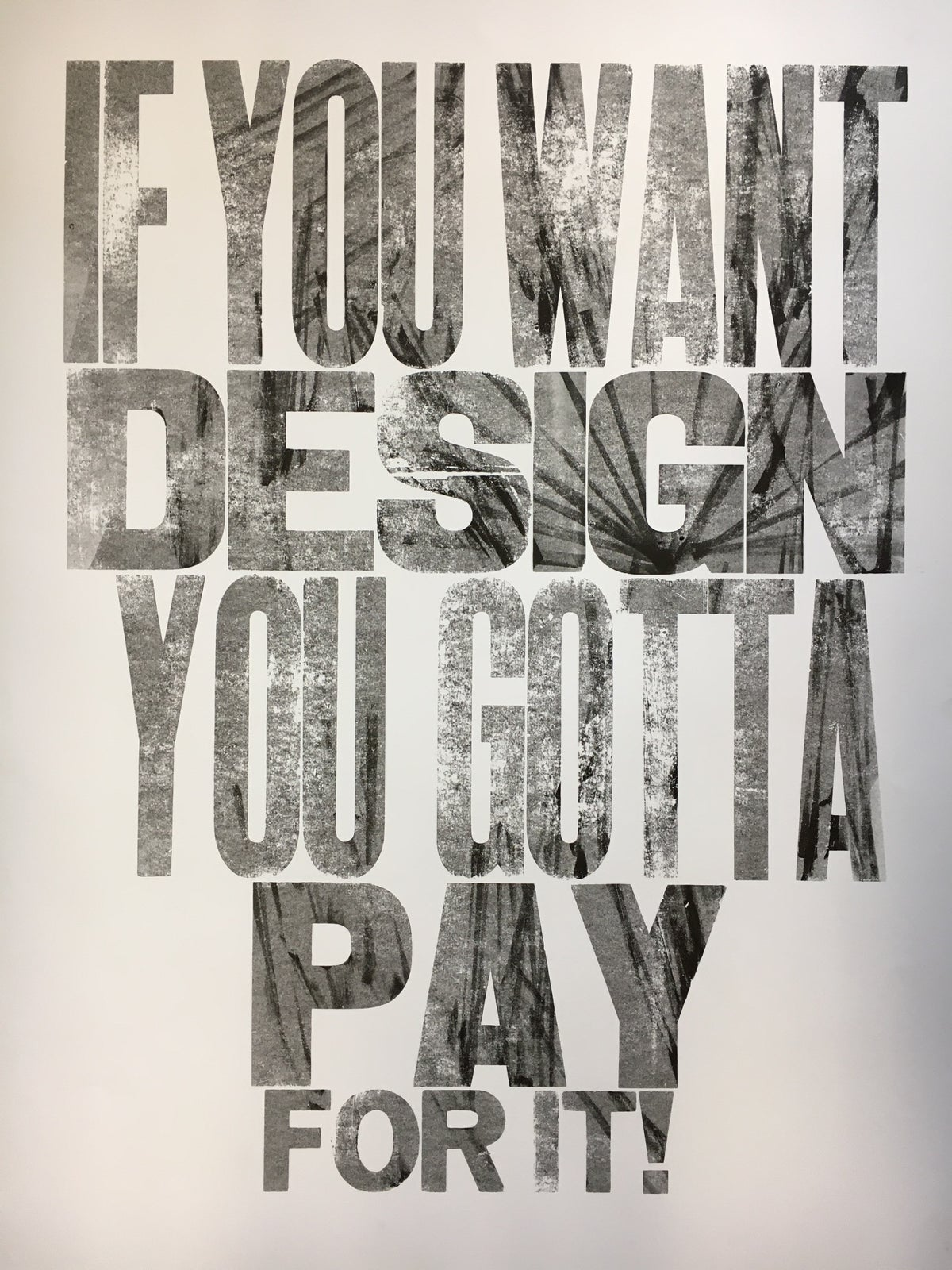 Image of One-off Typo Poster #1-056